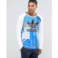 adidas OriginalsCamo Long Sleeve T-Shirt In Grey AY8288 - Grey