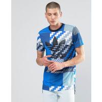 adidas OriginalsCamo Trefoil T-Shirt In Grey AY8289 - Grey