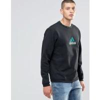 adidas OriginalsEQT - Schwarzes Sweatshirt mit Rundhalsausschnitt, AY9246 - Schwarz