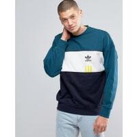 adidas OriginalsID96 - Grünes Sweatshirt mit Rundhalsausschnitt, AY9251 - Grün