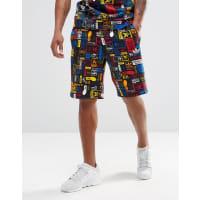 adidas OriginalsAZ1098 - Shorts mit mehrfarbigem Logo - Schwarz
