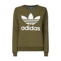adidas OriginalsSweatshirt mit Logo-Print und Gitterstruktur