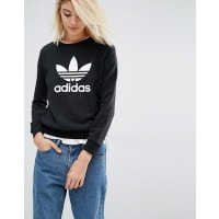 adidasOriginals Sweatshirt With Trefoil Logo - Black