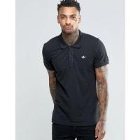 adidas OriginalsTrefoil Polo Shirt AB8298 - Black