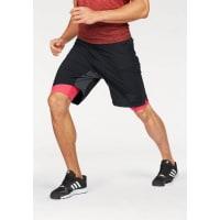 adidas Performance2-in-1-Shorts »ASS 2 GRASS 2IN1« Mit integrierter Tights, schwarz, schwarz-rot
