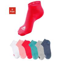 adidas PerformanceSneakersocken (6 Paar), bunt, rosé + weiß + pink + mint + hellgrau + grafit