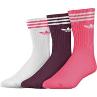 adidasSolid Crew W Socken weiß lila pink weiß lila pink