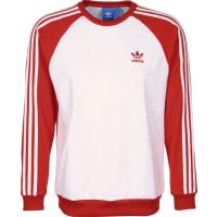 adidasSst Crew Sweater weiß rot