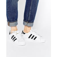 adidasOriginals Textured Superstar - White & black