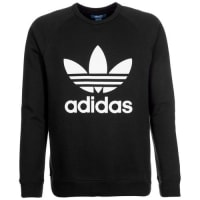 adidasSweatshirt Trefoil Crew schwarz