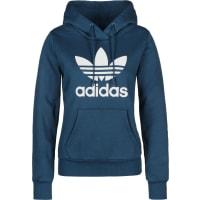 adidasTrf Logo W Hoodie blau weiß