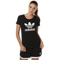 adidasTrefoil Womens Tee Black