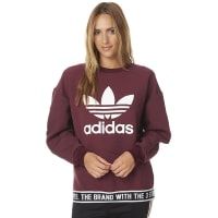 adidasWomens Trefoil Sweater Red