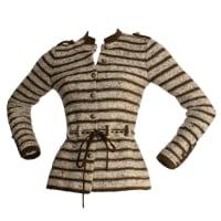 ADOLFOChic Vintage Adolfo Saks 5th Ave. Military Cardigan Sweater W/ Chain Belt
