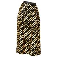ADOLFOVelvet Evening Skirt With Gold Ric Rac Detail