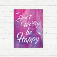 adsiveshopPlaca Decorativa Be Happy