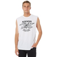 AfendsHawks Mens Muscle White