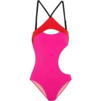 Agent ProvocateurAlenya Cutout Color-block Swimsuit - Fuchsia