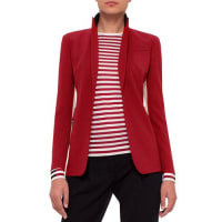 AkrisSingle-Breasted Wool-Blend Jacket, Sport Red/Cream