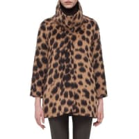 AkrisSpotted Stand-Collar Coat, Date