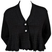 Alaia1990s Azzedine Alaia Black Cropped Cardigan Sweater