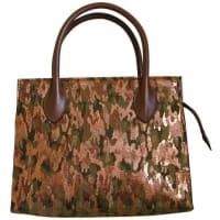 Alaia1990s Azzedine Alaia Metallic Camouflage Bag