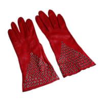 AlaiaAzzedine Alaia Iconic Red Gauntlets