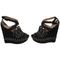 AlaiaHigh Sandals In Black Suede. S. 36