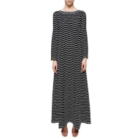 AlaiaLong sleeves striped dress, size 40, Nero