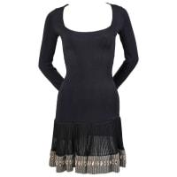 AlaiaVery Rare 1990s Azzedine Alaia Black Mini Dress With Mirrored Hemline