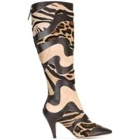 Alberta Ferrettianimal print boots, Womens, Size: 40, Brown