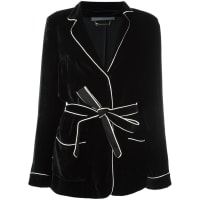 Alberta Ferrettibelted blazer, Womens, Size: 46, Black