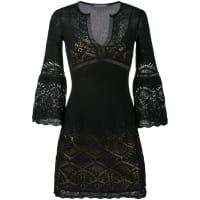 Alberta Ferretticrochet V-neck dress, Womens, Size: 46, Black