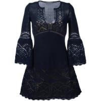 Alberta Ferretticrochet V-neck dress, Womens, Size: 44, Blue
