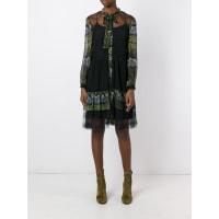 Alberta Ferrettifloral print sheer dress, Womens, Size: 40, Black