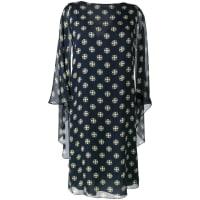 Alberta Ferrettigeometric print shift dress, Womens, Size: 48, Blue
