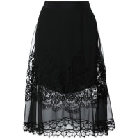 Alberta Ferrettilace overlay a-line skirt, Womens, Size: 44, Black