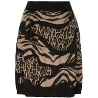 Alberta Ferrettileopard zebra print skirt, Womens, Size: 38, Brown