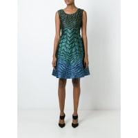 Alberta Ferrettiombré stripe pattern dress, Womens, Size: 42, Blue