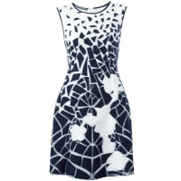 Alberta Ferrettiprinted fitted dress, Womens, Size: 44, White