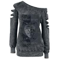Alchemy EnglandSkull Heart Girl-Sweat-Shirt grau
