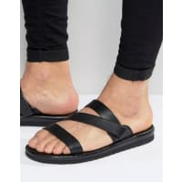AldoBalzani Leather Sandal - Black
