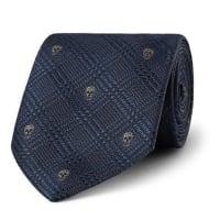 Alexander McQueen7cm Skull-jacquard Silk Tie - Navy