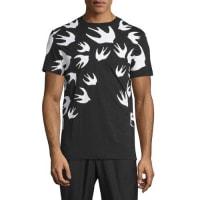 Alexander McQueenBird-Print Short-Sleeve T-Shirt