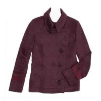 Alexander McQueenBurgundy Cashmere Peacoat Jacket