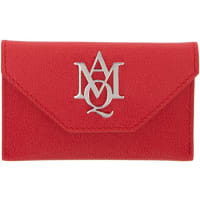 Alexander McQueenInsignia Envelope Card Holder In Grained Leather