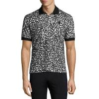 Alexander McQueenLeopard Piqué Polo Shirt, Black