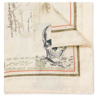 Alexander McQueenLetters From India Printed Silk Pocket Square - Braun