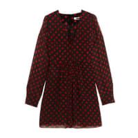 Alexander McQueenPolka-dot Chiffon Mini Dress - Black