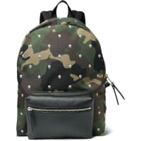 Alexander McQueenPrinted Canvas And Leather Backpack - Green